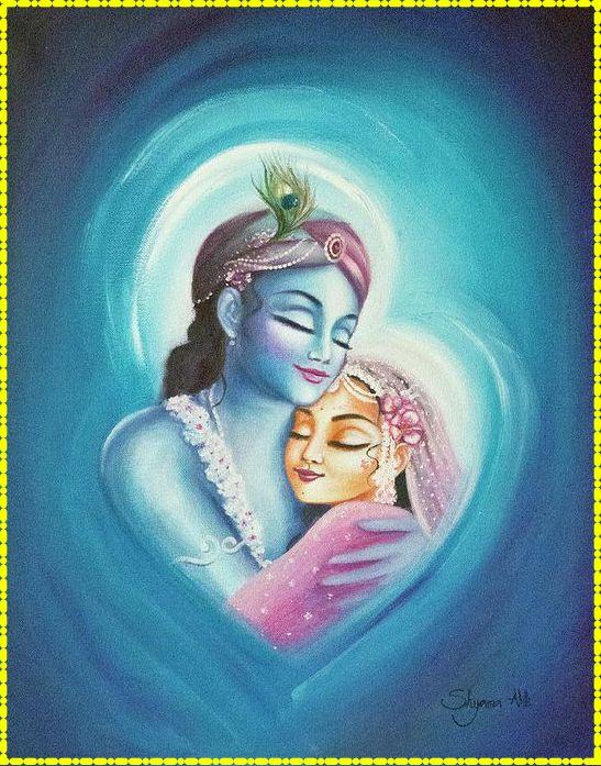 Radha Krishna Love Heart Cute HD Downloading Wallpaper