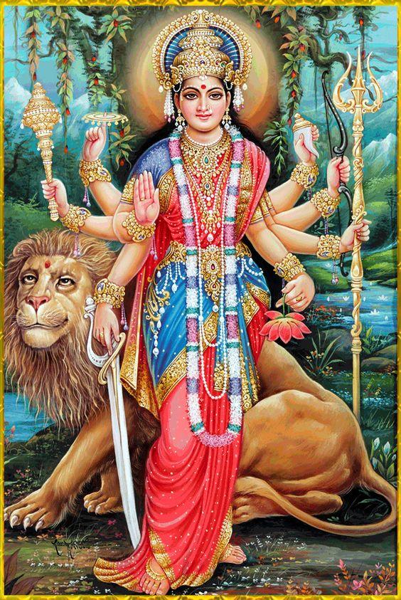 Shri Mahagauri Mata Durga Ji Bhawani Photo HD New