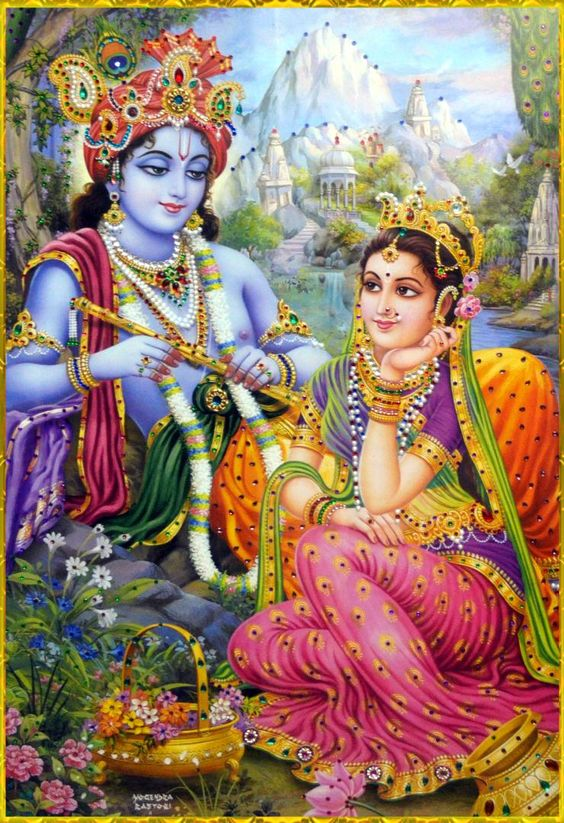 Eternal Lover Shree Krishna and Radha HD Romantic Photo Wallpaper
