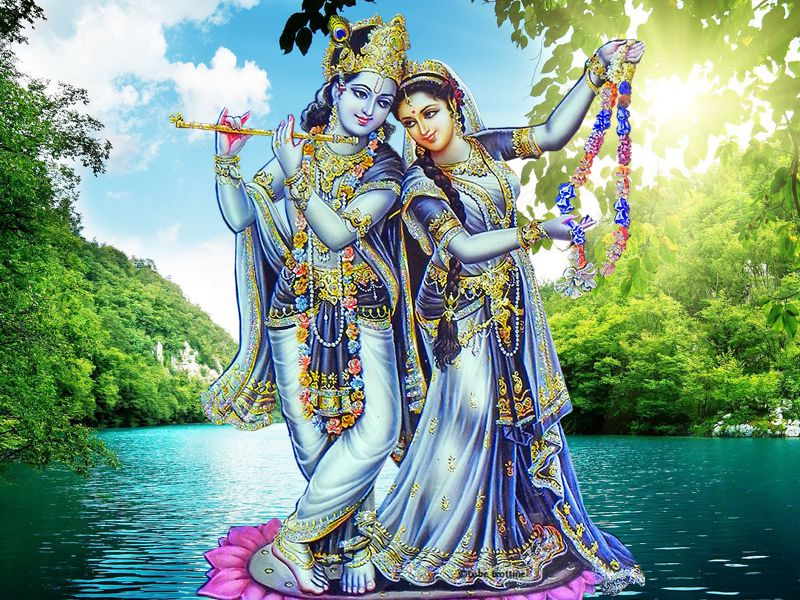 Most Romantic Couple Radha Krishna Divine Love Images