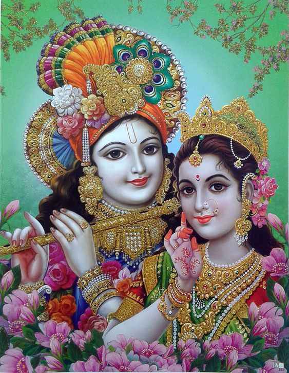 Radha and Krishna Most Beautiful Looking Romantic Image in HD