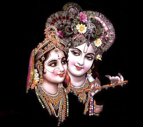 Shri Krishna Ki Premika Radha Rani Ke Romantic Pic Wallpaper Image