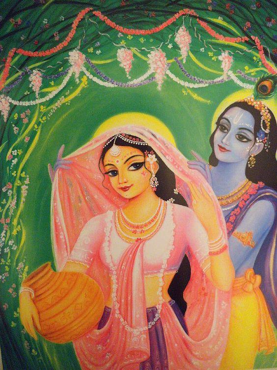 Shri Radha Krishna Bhagwan Ki Painting HD Wallpaper Download