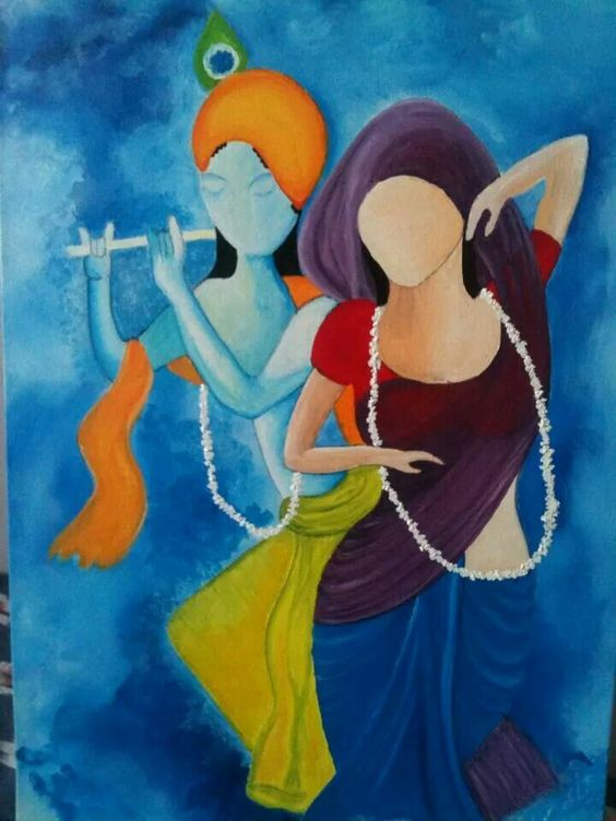 Truly Special Radha Krishna HD Wallpaper Painting Free Download